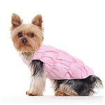 View Image 3 of Ruched Bubble Dog Jacket by Dogo - Pink