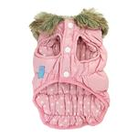 View Image 2 of Ruched Bubble Dog Jacket by Dogo - Pink