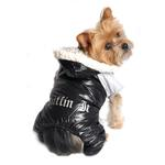 View Image 5 of Ruffin It Snowsuit by Doggie Design - Black and Gray
