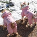 View Image 4 of Ruffin It Snowsuit by Doggie Design - Pink