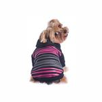 View Image 3 of Safari Dog Hoodie - Pink & Black