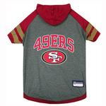 View Image 1 of San Francisco 49ers Hooded Dog T-Shirt