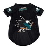View Image 1 of San Jose Sharks Dog Jersey - Black