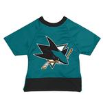 View Image 1 of San Jose Sharks Mesh Dog Jersey - Teal with Black Trim