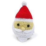 View Image 1 of Santa Crochet Dog Toy by Dogo