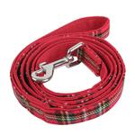 View Image 1 of Santa Dog Leash by Puppia - Checkered Red