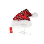 View Image 1 of Santa's Dog Hat by Puppia - Red Plaid