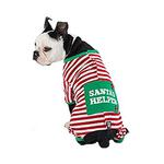 View Image 2 of Santa's Helper Dog Pajamas by Petrageous - Red and White
