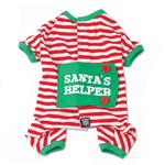 View Image 1 of Santa's Helper Dog Pajamas by Petrageous - Red and White