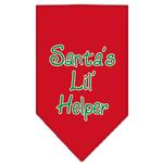 View Image 1 of Santa's Little Helper Dog Bandana - Red