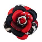 View Image 1 of Scarlett Flower Dog Collar Attachment - Red