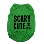 View Image 1 of Scary Cute Dog Shirt - Green