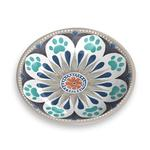 View Image 1 of Carmel Medallion Pet Saucer by TarHong - Grey