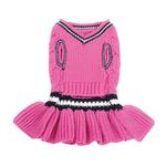 View Image 2 of School Girl Dog Sweater Dress by Dogo