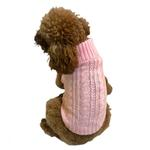 View Image 1 of Scottish Cable Knit Dog Sweater by the Dog Squad - Pink