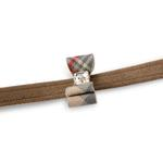 View Image 2 of Scotty Big Bow Dog Leash by Susan Lanci - Fawn with Doe Plaid