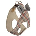 View Image 2 of Scotty Doe Plaid Step-In Dog Harness with Platinum Big Bow by Susan Lanci