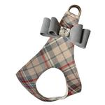 View Image 1 of Scotty Doe Plaid Step-In Dog Harness with Platinum Big Bow by Susan Lanci