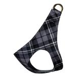 View Image 1 of Scotty Step-In Dog Harness by Susan Lanci - Charcoal Plaid