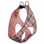 View Image 2 of Scotty Step-In Dog Harness by Susan Lanci - Puppy Pink Plaid