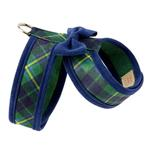 View Image 2 of Scotty Tinkie Two-Tone Dog Harness by Susan Lanci - Forest Plaid