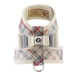 View Image 1 of Scotty Tinkie Dog Harness with Big Bow by Susan Lanci - Doe Plaid
