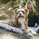 View Image 2 of Scout and About Outdoor Chill Pad Dog Mat - Vanilla