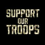 View Image 2 of Support Our Troops Dog Shirt - Black