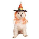 View Image 1 of Sequin Halloween Candy Corn Witch Dog Hat