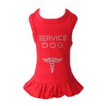 View Image 1 of Service Dog Dress by Hello Doggie - Red