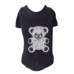 View Image 1 of Teddy Bear Dog T-Shirt by Hello Doggie - Black