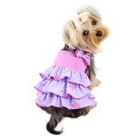 View Image 2 of Shimmer Hearts Ruffle Dog Dress - Purple