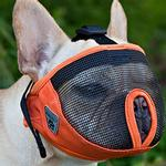 View Image 1 of Short Snout Dog Muzzle by Canine Friendly - Orange
