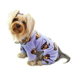 View Image 2 of Silly Monkey Fleece Turtleneck Dog Pajamas - Lavender