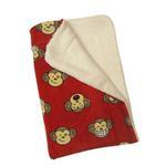 View Image 2 of Silly Monkey Ultra-Plush Dog Blanket by Klippo - Burgundy
