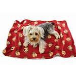 View Image 1 of Silly Monkey Ultra-Plush Dog Blanket by Klippo - Burgundy