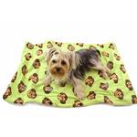 View Image 1 of Silly Monkey Ultra-Plush Dog Blanket by Klippo - Lime