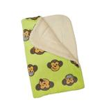 View Image 2 of Silly Monkey Ultra-Plush Dog Blanket by Klippo - Lime
