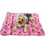 View Image 1 of Silly Monkey Ultra-Plush Dog Blanket by Klippo - Pink
