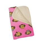 View Image 2 of Silly Monkey Ultra-Plush Dog Blanket by Klippo - Pink