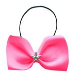 View Image 1 of Silver Star Widget Dog Bow Tie - Bright Pink