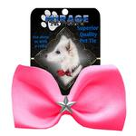 View Image 2 of Silver Star Widget Dog Bow Tie - Bright Pink