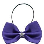 View Image 1 of Silver Star Widget Dog Bow Tie - Purple