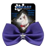 View Image 2 of Silver Star Widget Dog Bow Tie - Purple