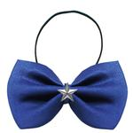 View Image 1 of Silver Star Widget Dog Bow Tie - Blue