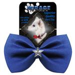 View Image 2 of Silver Star Widget Dog Bow Tie - Blue