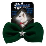 View Image 2 of Silver Star Widget Dog Bow Tie - Green