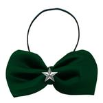 View Image 1 of Silver Star Widget Dog Bow Tie - Green