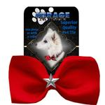 View Image 2 of Silver Star Widget Dog Bow Tie - Red