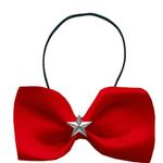View Image 1 of Silver Star Widget Dog Bow Tie - Red